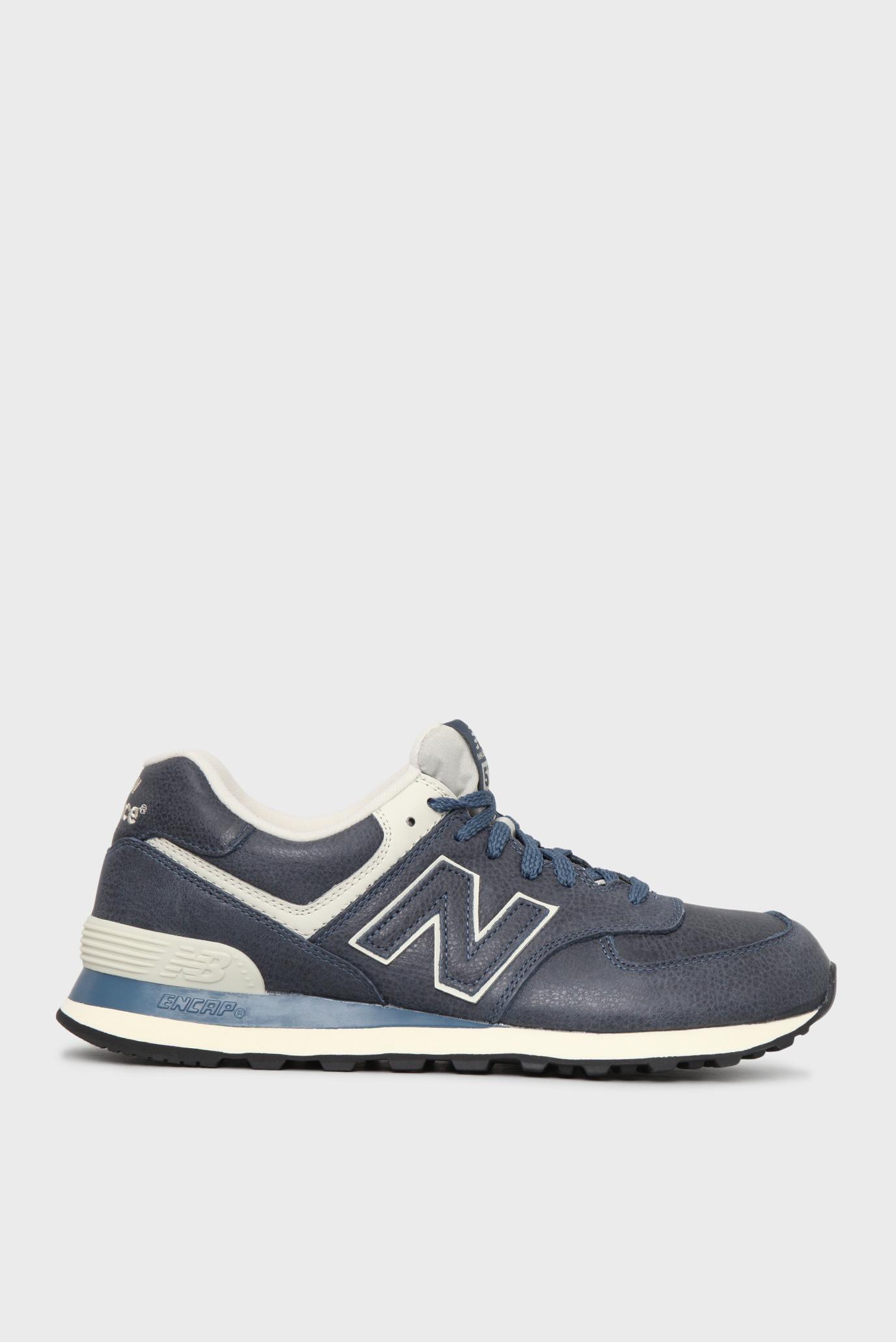 Купить Мужские синие кожаные кроссовки 574 New Balance New Balance ML574LUB  – Киев 4f565cf2b8753