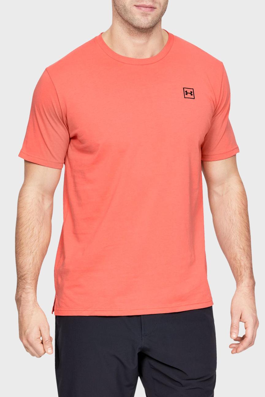 Мужская розовая футболка с принтом UA PURSUIT OF VICTORY LEFT CHEST SS