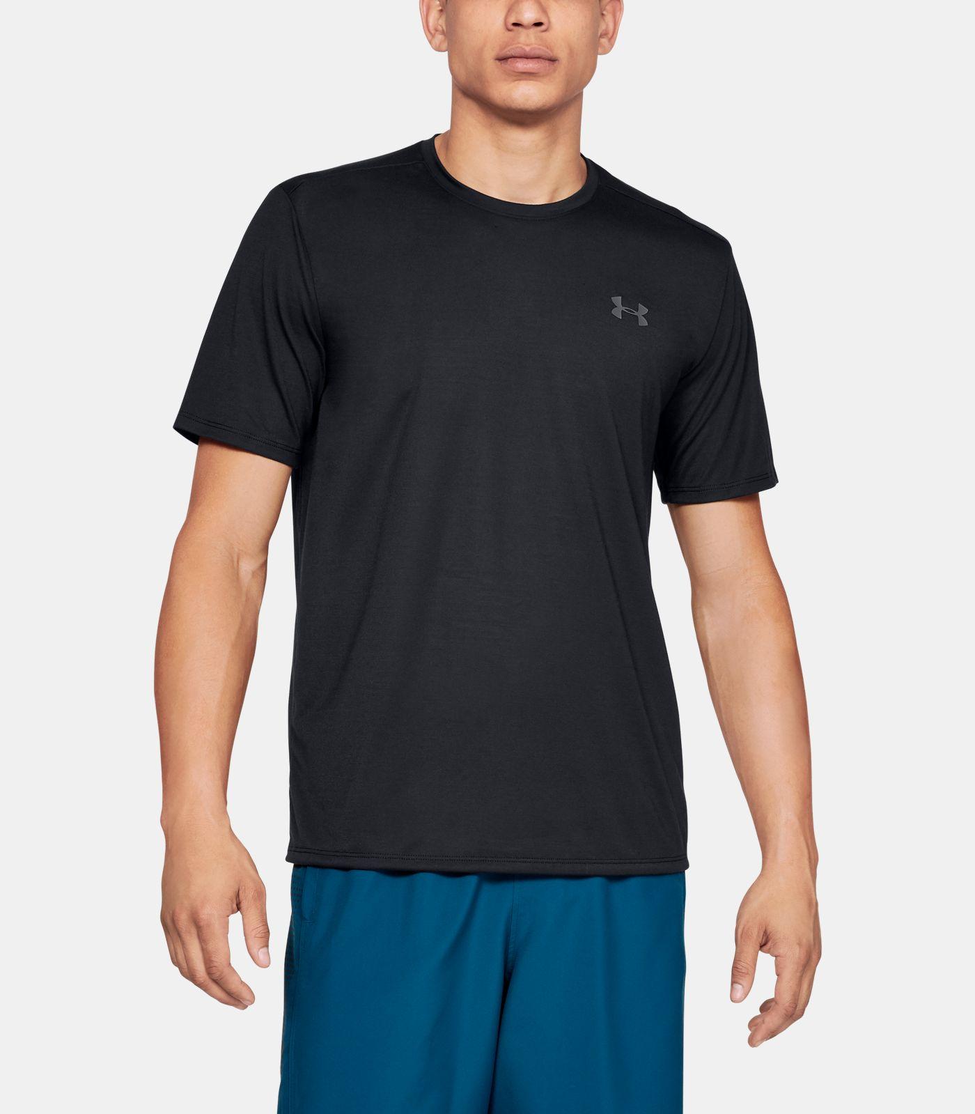 Купить Мужская черная футболка UA Threadborne SS Under Armour Under Armour 1325029-001 – Киев, Украина. Цены в интернет магазине MD Fashion