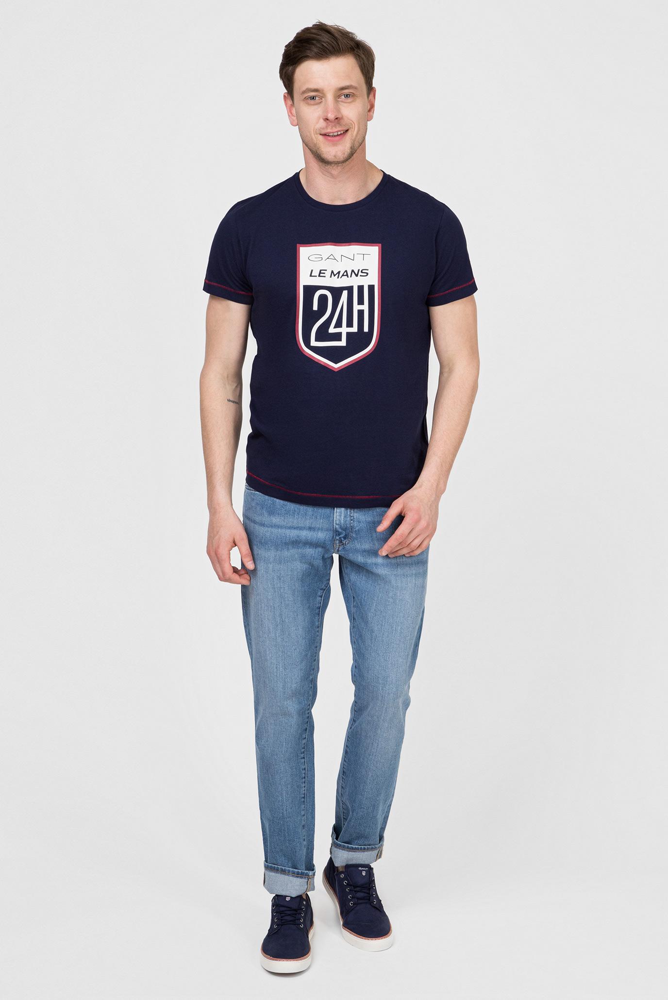 Купить Мужская темно-синяя футболка LM Gant Gant 2003047 – Киев, Украина. Цены в интернет магазине MD Fashion