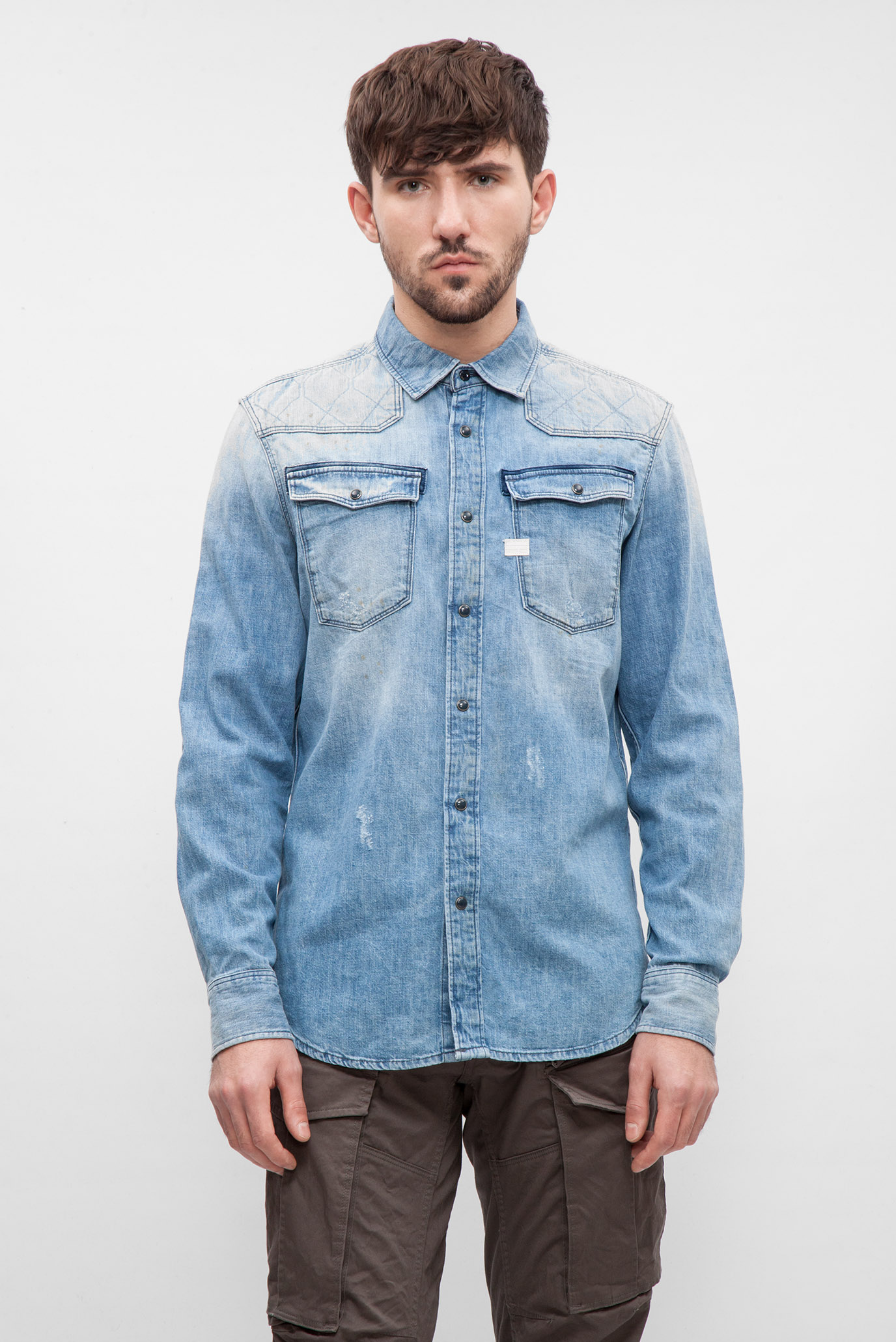 c111407ae82 Купить Мужская голубая джинсовая рубашка G-Star RAW G-Star RAW D05469