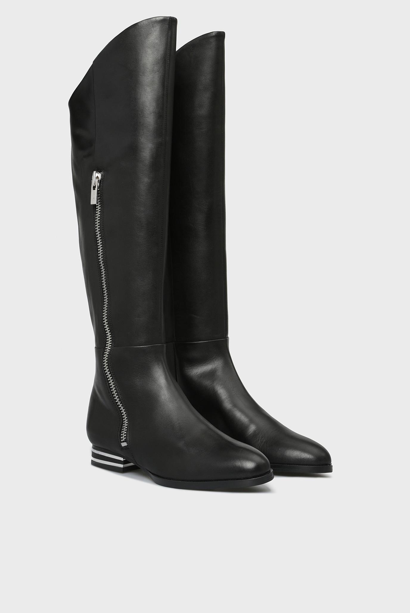 Купить Женские черные кожаные сапоги LOLITA DKNY DKNY K3869335 – Киев, Украина. Цены в интернет магазине MD Fashion