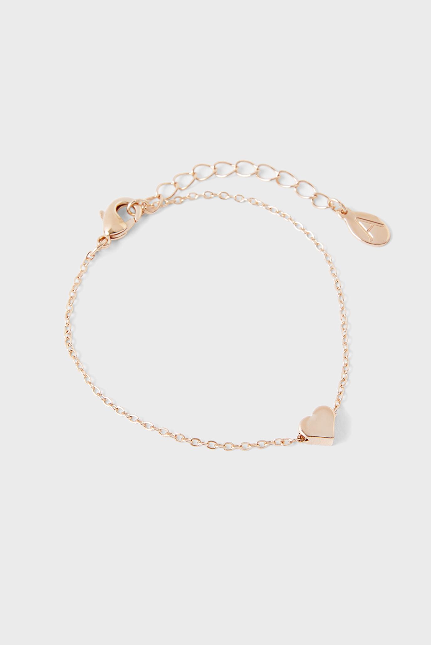 Жіночий золотистий браслет SOLID HEART CLASP 1