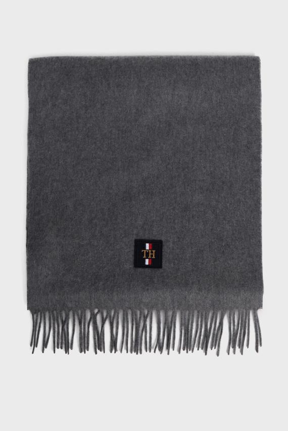 Мужской серый кашемировый шарф CASHMERE ICON