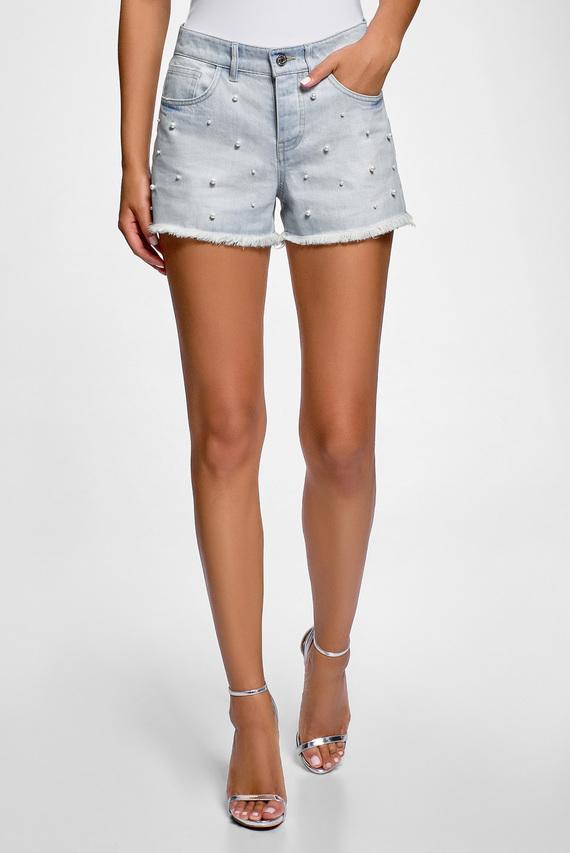 Женские светло-голубые джинсовые шорты