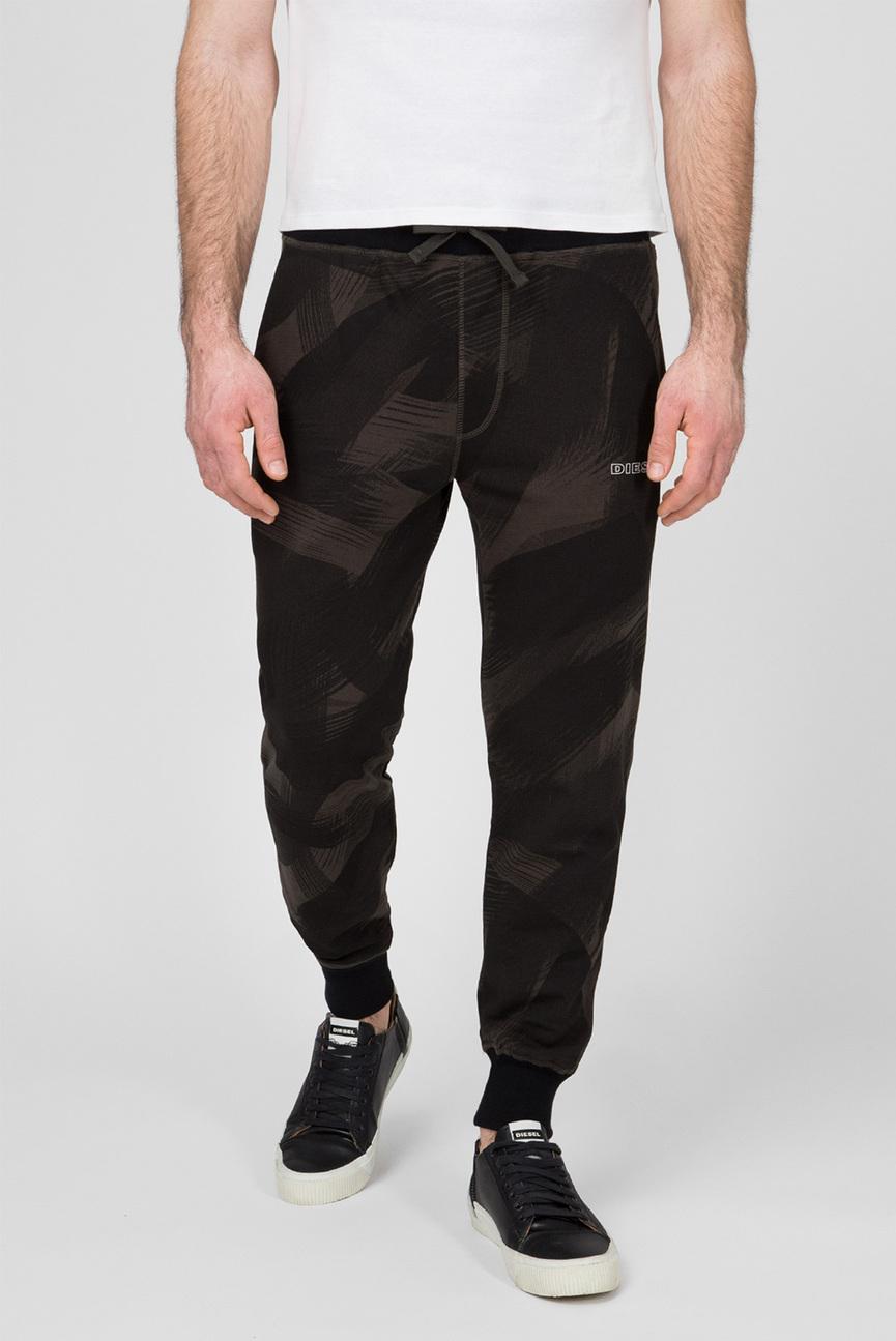 Мужские зеленые камуфляжные спортивные брюки
