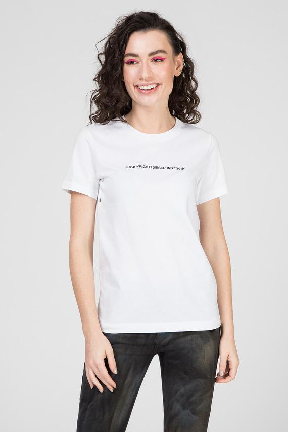 Женская белая футболка T-SILY-WR