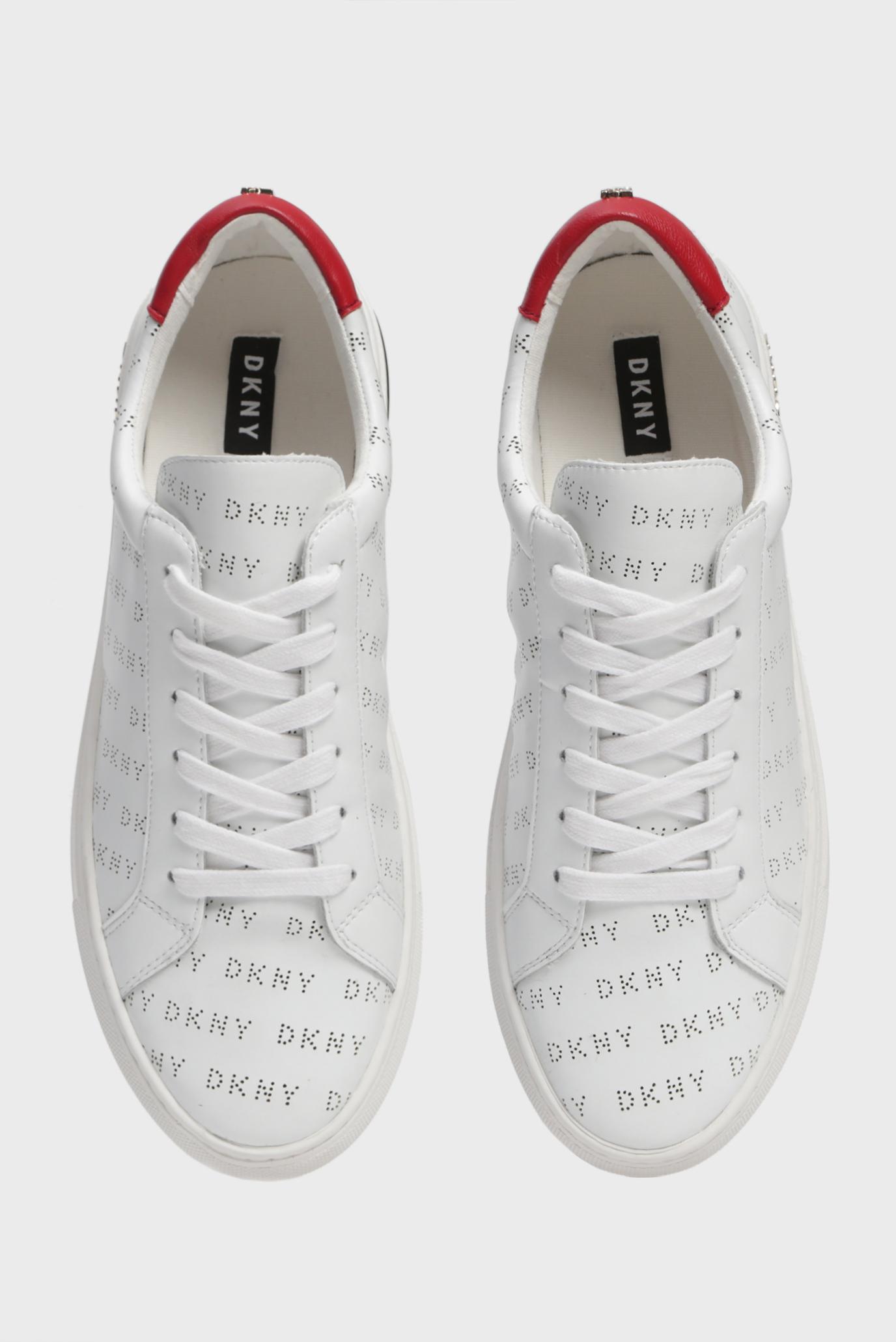Купить Женские белые кожаные сникеры COURT DKNY DKNY K1944665 – Киев, Украина. Цены в интернет магазине MD Fashion