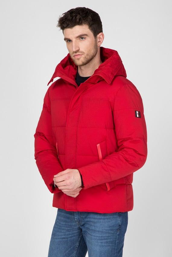 Мужской красная куртка STRETCH NYLON HOODED