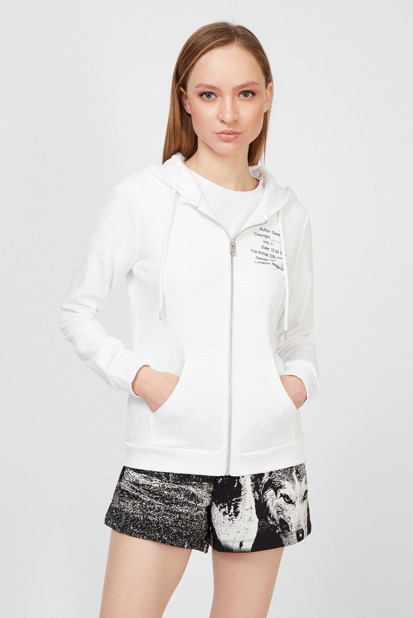 Женское белое худи UFLT-VERTIX-HZ 1
