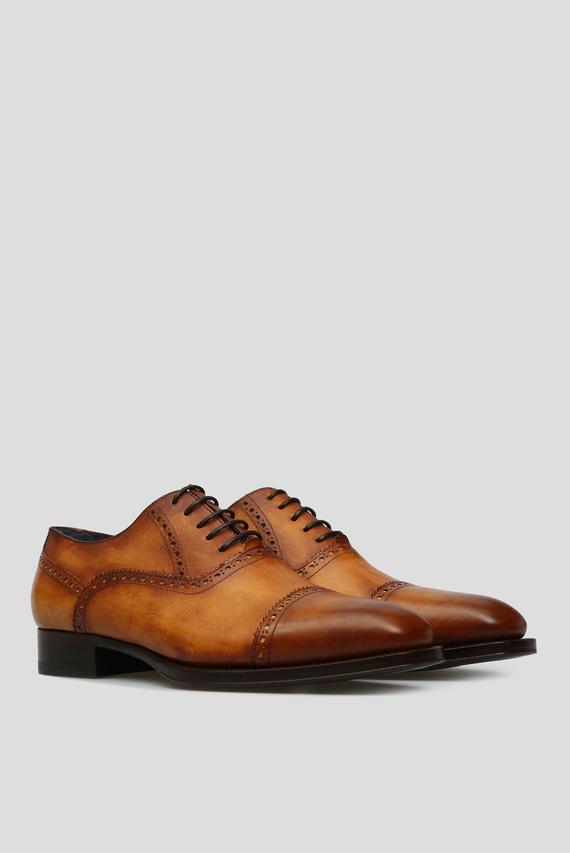 Мужские светло-коричневые кожаные оксфорды