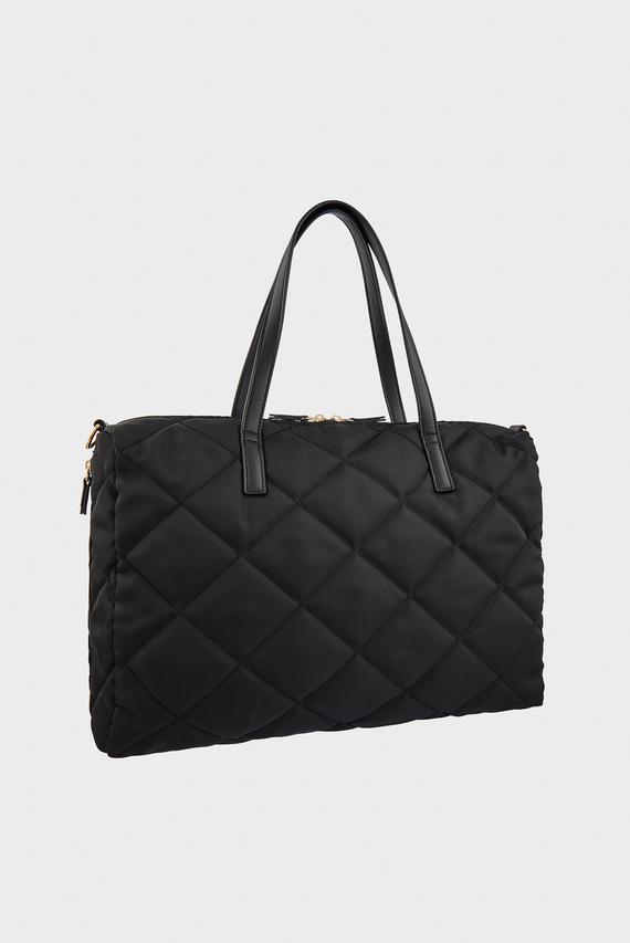 Женская черная сумка на плечо HARRI QUILTED WEEKEN