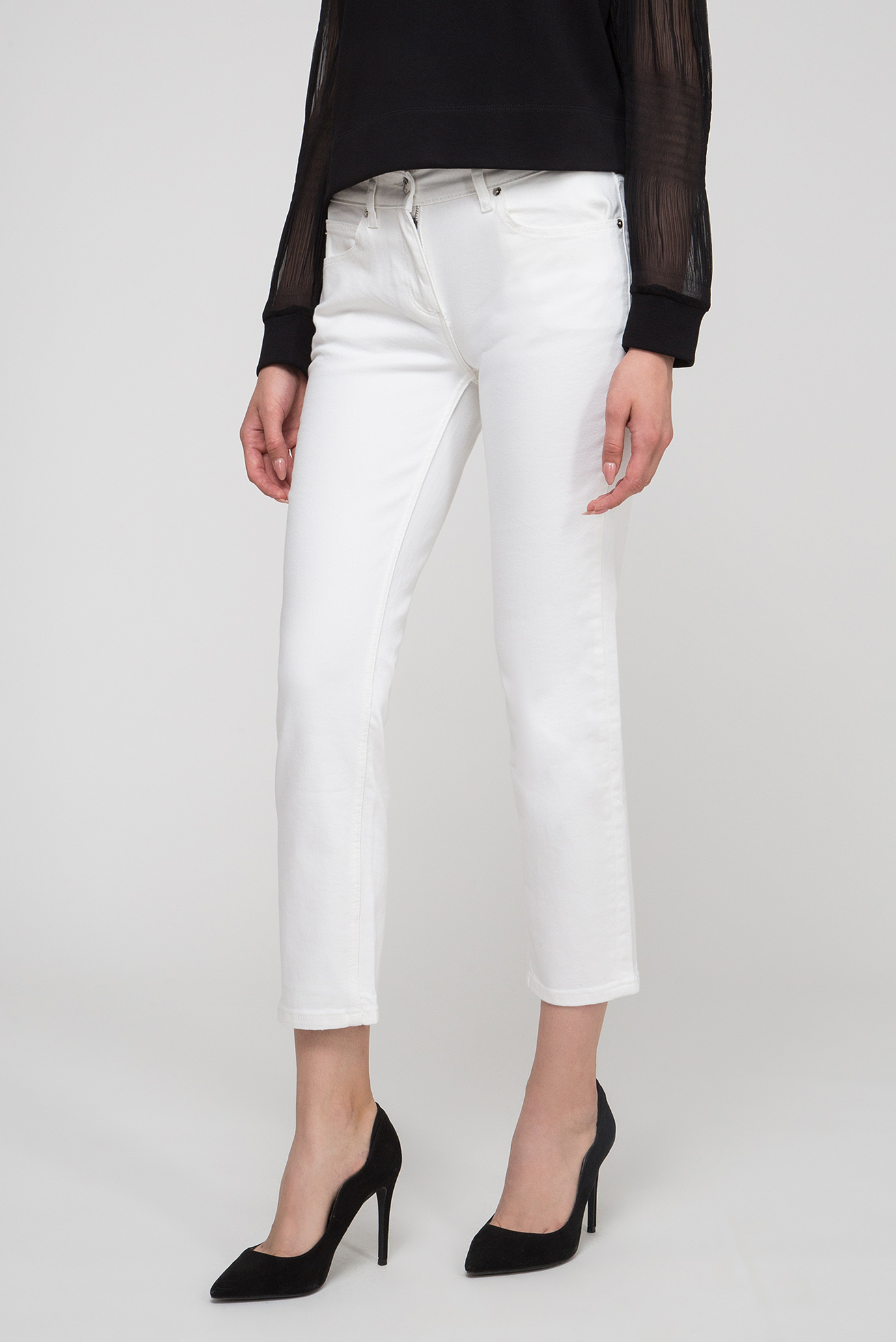 Купить Женские белые джинсы SLL 5PKT JEAN ANKLE Calvin Klein Calvin Klein K20K200605 – Киев, Украина. Цены в интернет магазине MD Fashion