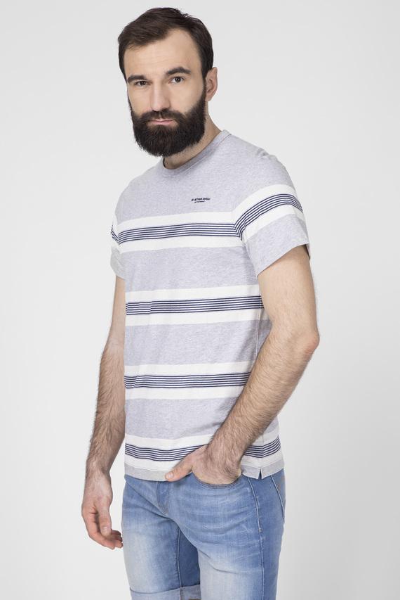 Мужская серая футболка в полоску Stainlo