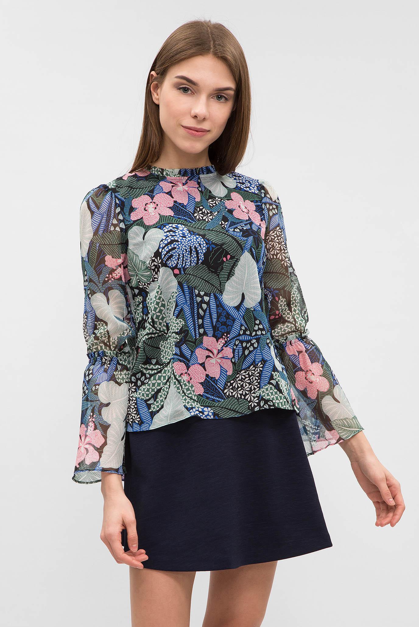 Купить Женская черная блуза с принтом Tommy Hilfiger Tommy Hilfiger DW0DW03635 – Киев, Украина. Цены в интернет магазине MD Fashion
