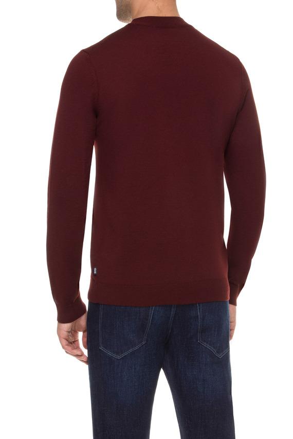 Мужской бордовый шерстяной джемпер