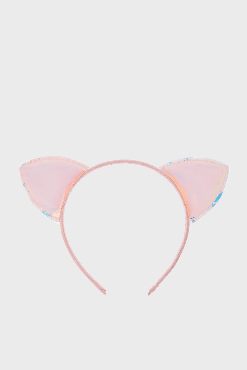 Детский розовый обруч