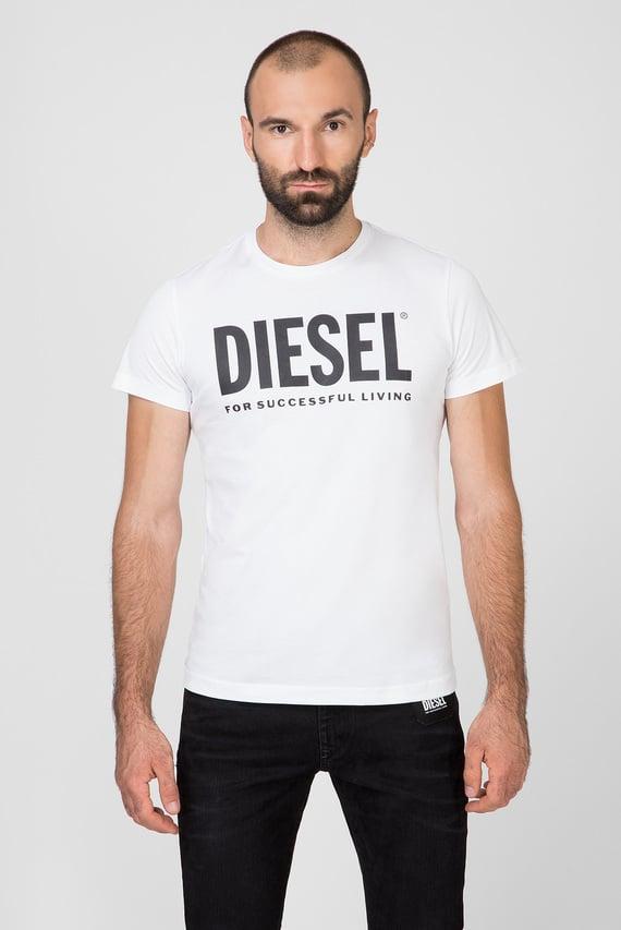 Мужская белая футболка с принтом T-DIEGO-LOGO MAGLIETTA