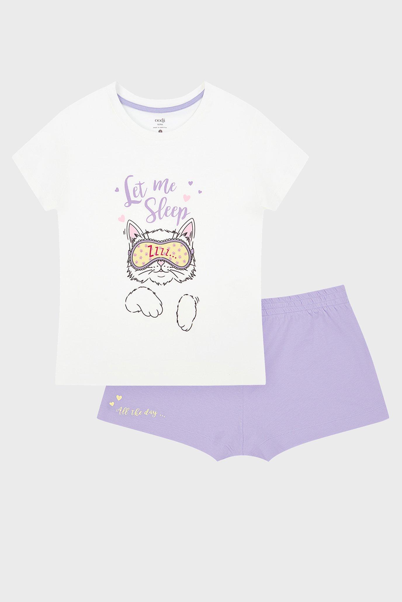 Женская пижама (майка, шорты) Oodji