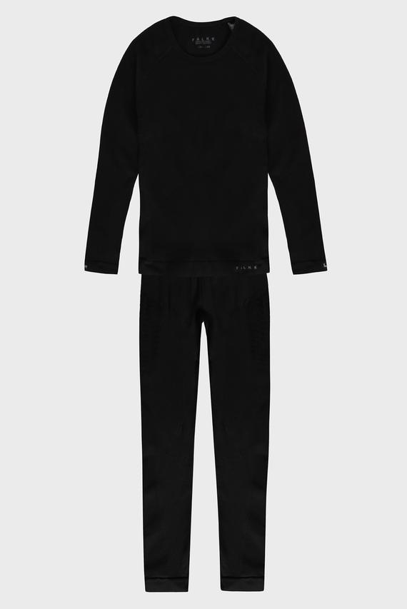 Детское черное термобелье (лонгслив, брюки) Maximum Warm