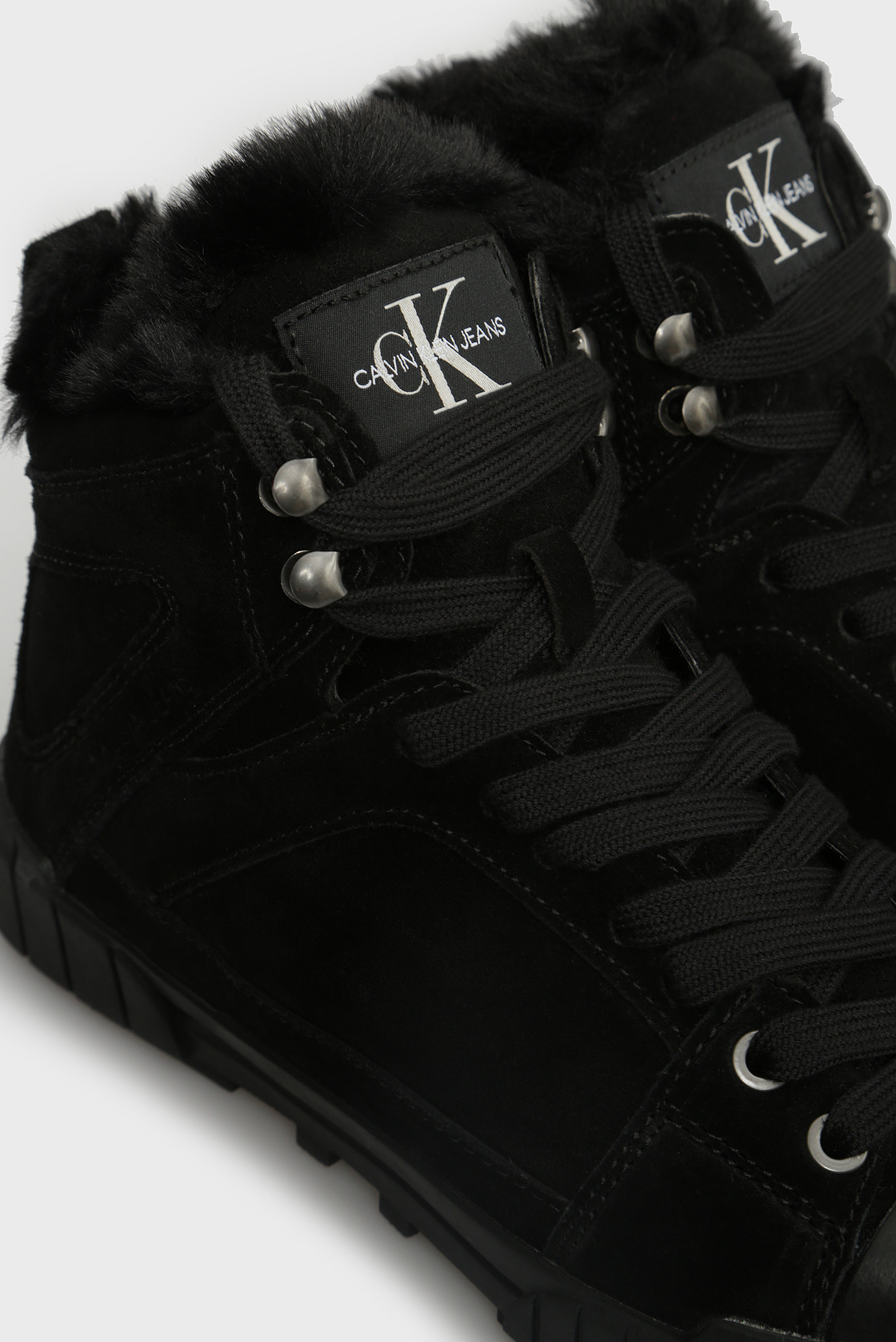 Купить Женские черные замшевые хайтопы BOLLA Calvin Klein Calvin Klein RE9772 – Киев, Украина. Цены в интернет магазине MD Fashion