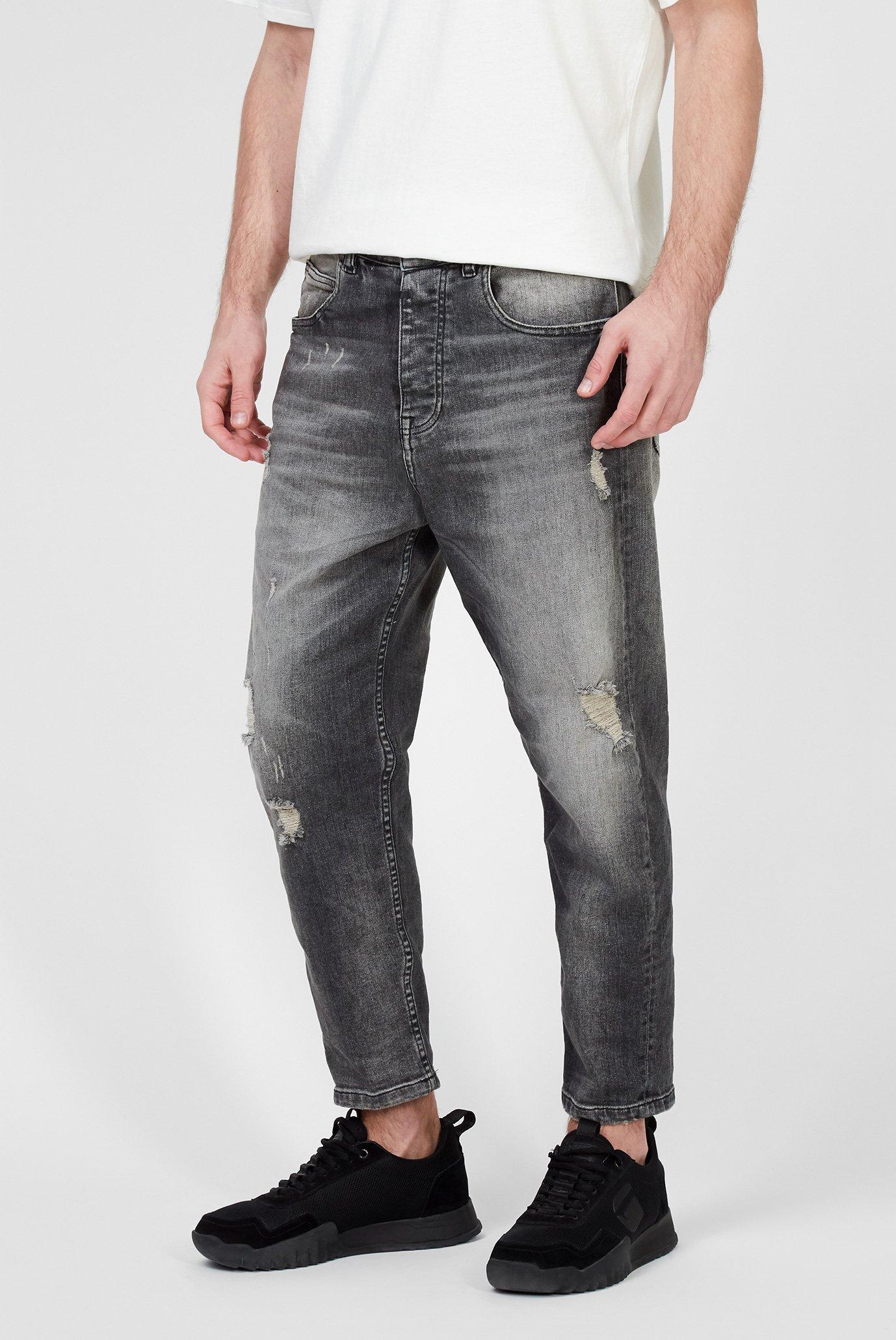 Мужские серые джинсы Toni 9941 destroyed Tigha