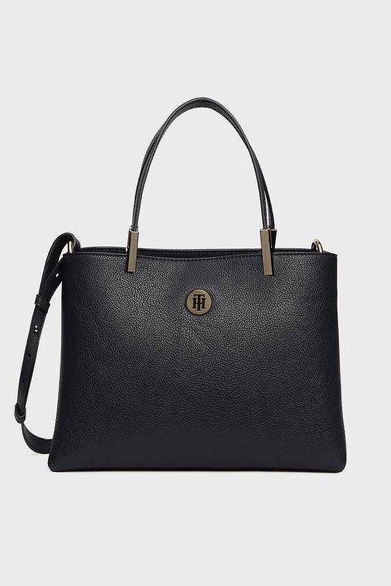 Женская темно-синяя сумка на плечо TH CORE MED SATCHEL
