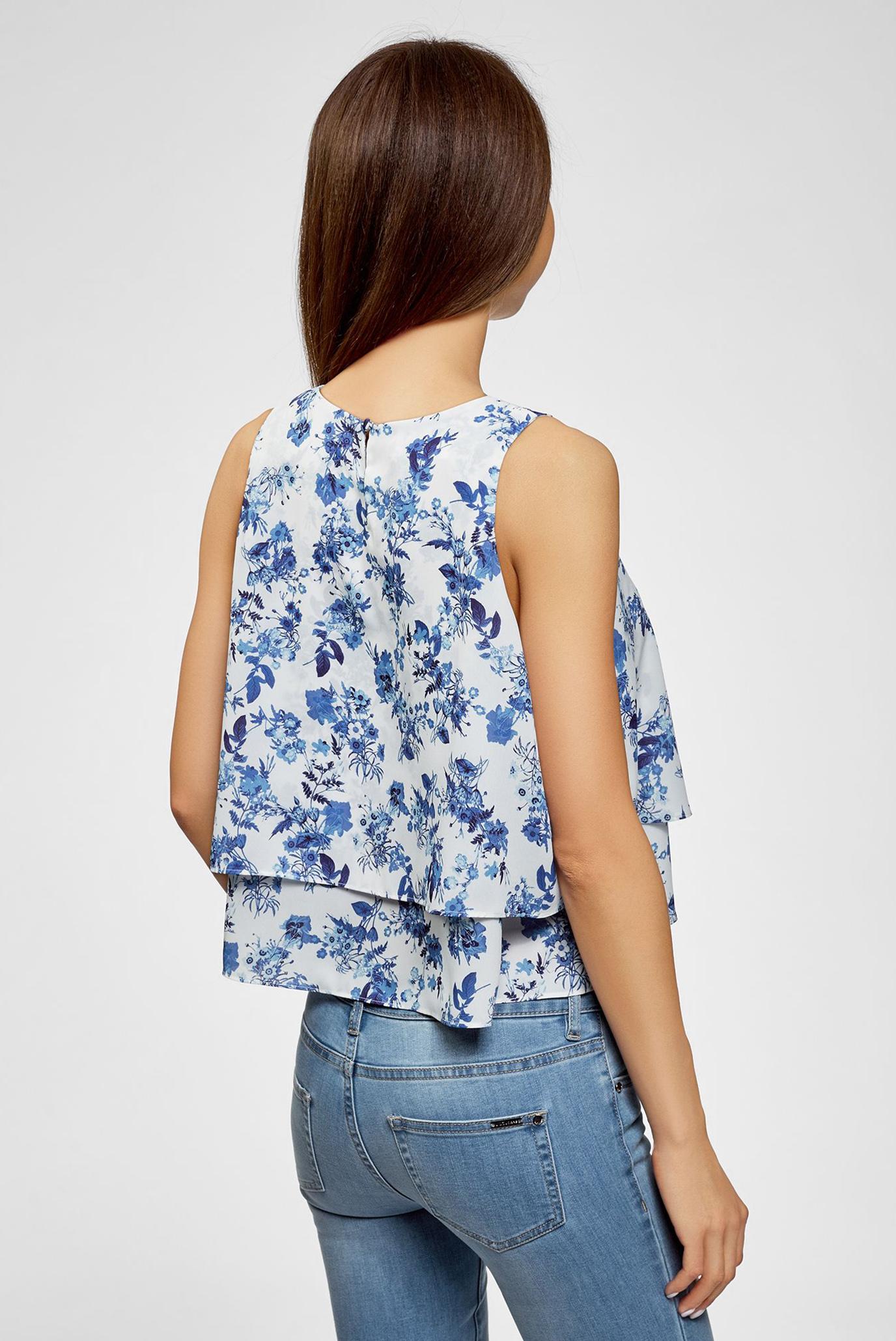 Купить Женская белая блуза с принтом Oodji Oodji 11411162/46796/1075F – Киев, Украина. Цены в интернет магазине MD Fashion