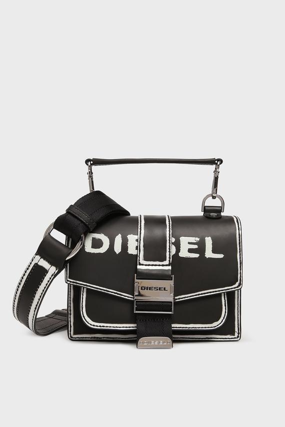 Женская черная кожаная сумка через плечоMISS-MATCH / MISS-MATCH