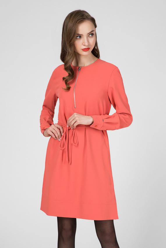 Женское оранжевое платье TRAVEL CREPE