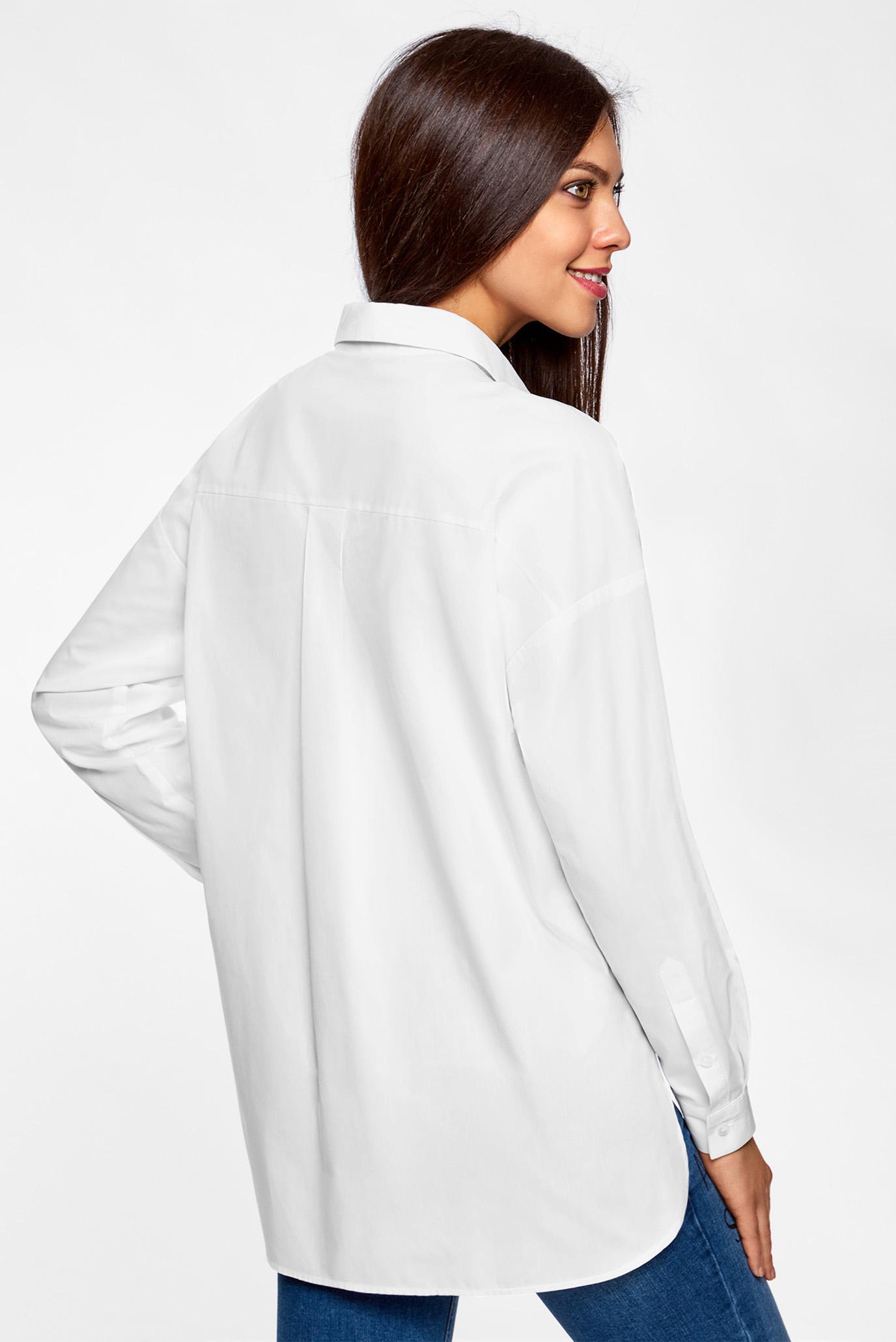 b13c74dcaf3 Купить Женская белая рубашка с патчами Oodji Oodji 11411165 36217 1000N –  Киев