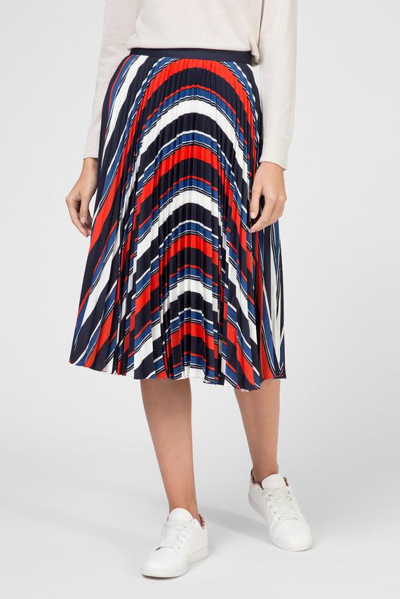 Женская плиссированная юбка в полоску