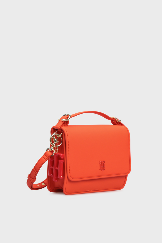 Женская красная сумка через плечо TH CHIC