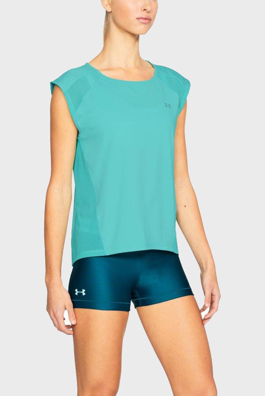 Женская голубая футболка Armour Sport Cap Sleeve