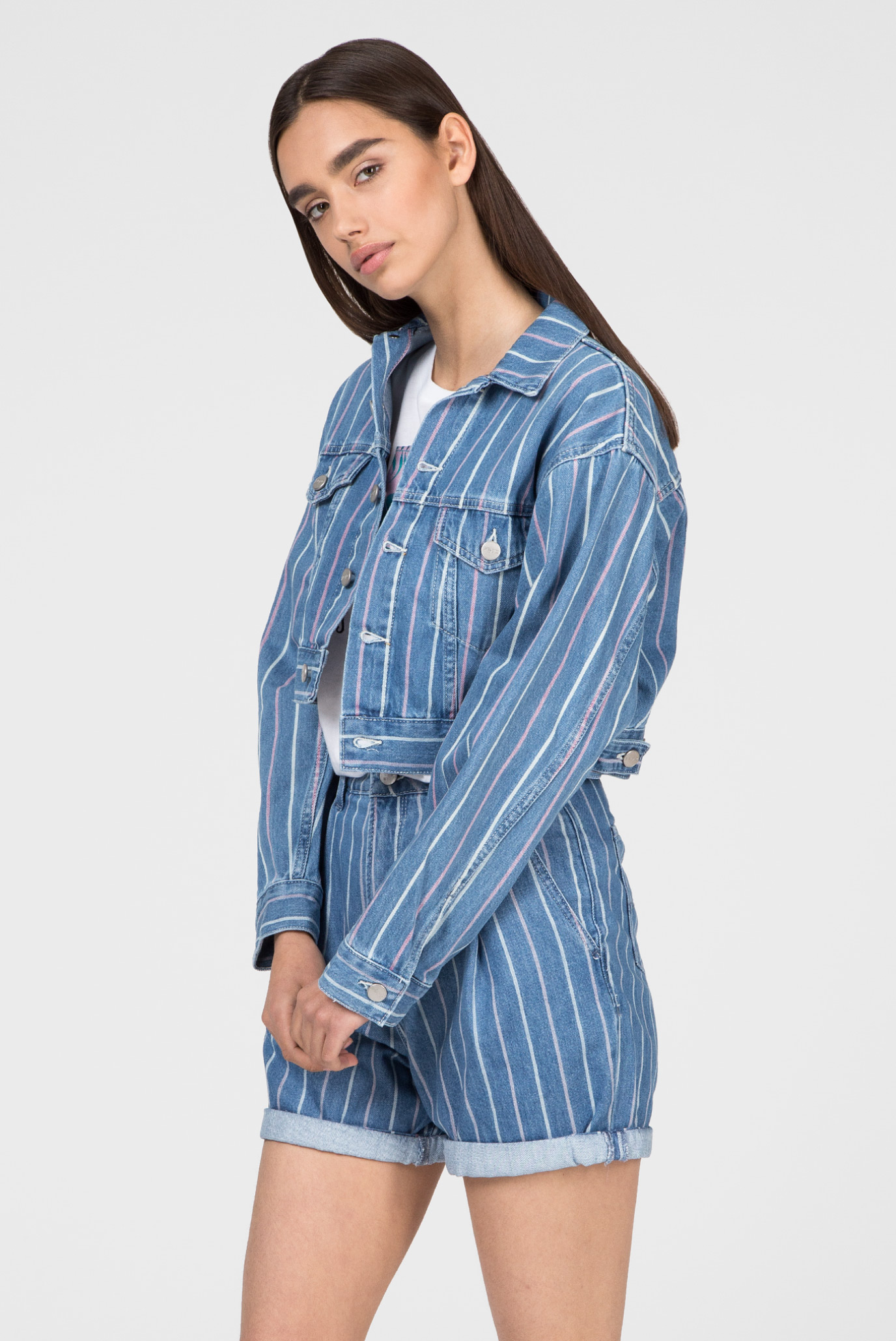 Женская синяя джинсовая куртка FERN Pepe Jeans