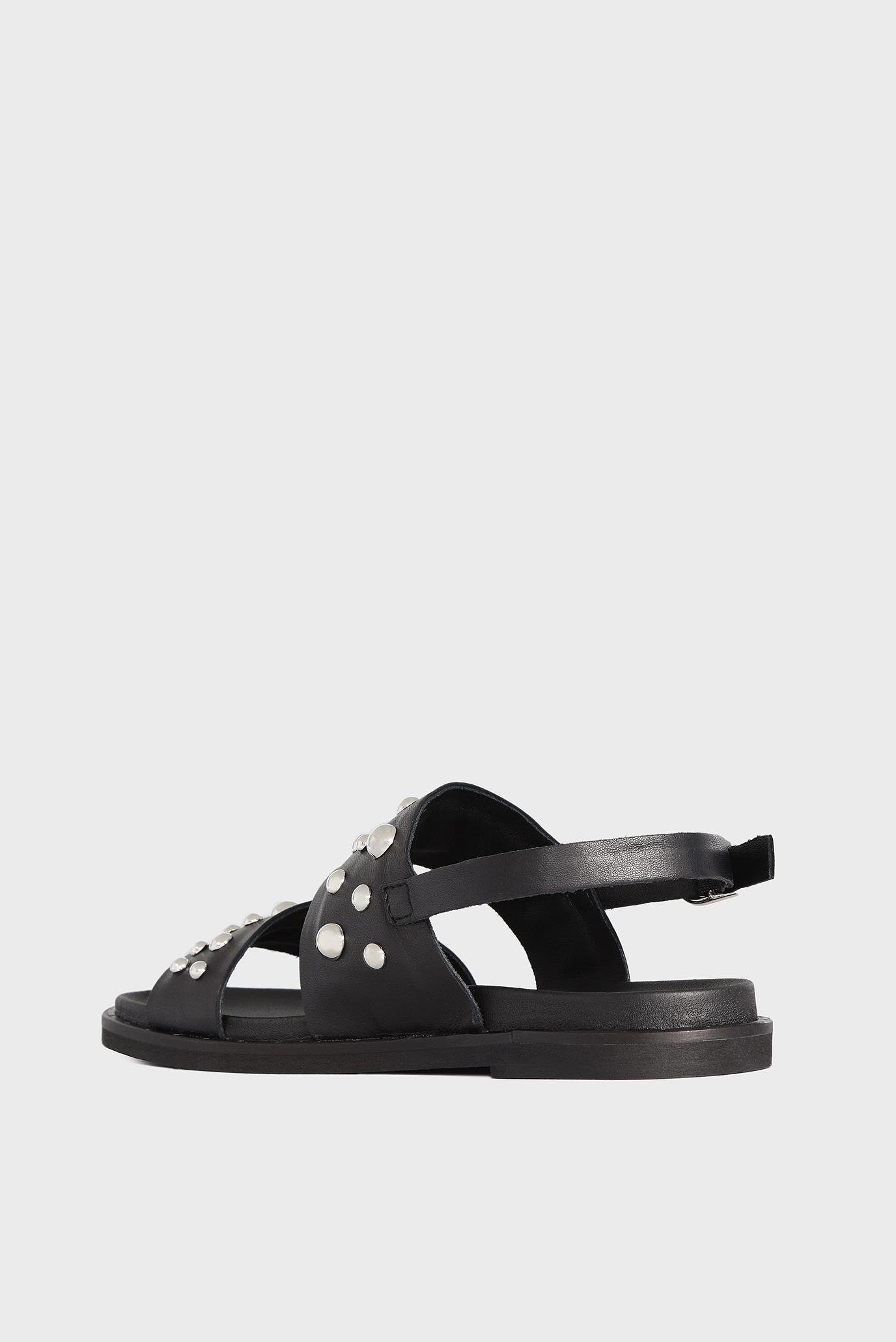 Купить Женские черные кожаные сандалии Tosca Blu  Tosca Blu  SS1813S252 – Киев, Украина. Цены в интернет магазине MD Fashion