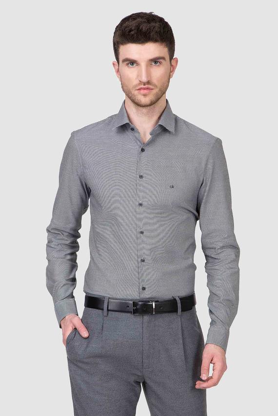 Мужская серая рубашка STRUCTURE EASY IRON SLIM