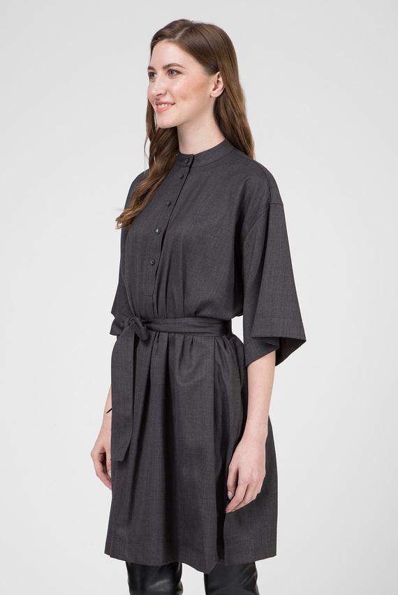 Женское серое платье