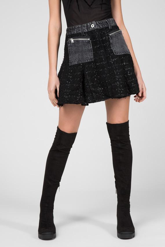 Женская черная твидовая юбка O-NYELA