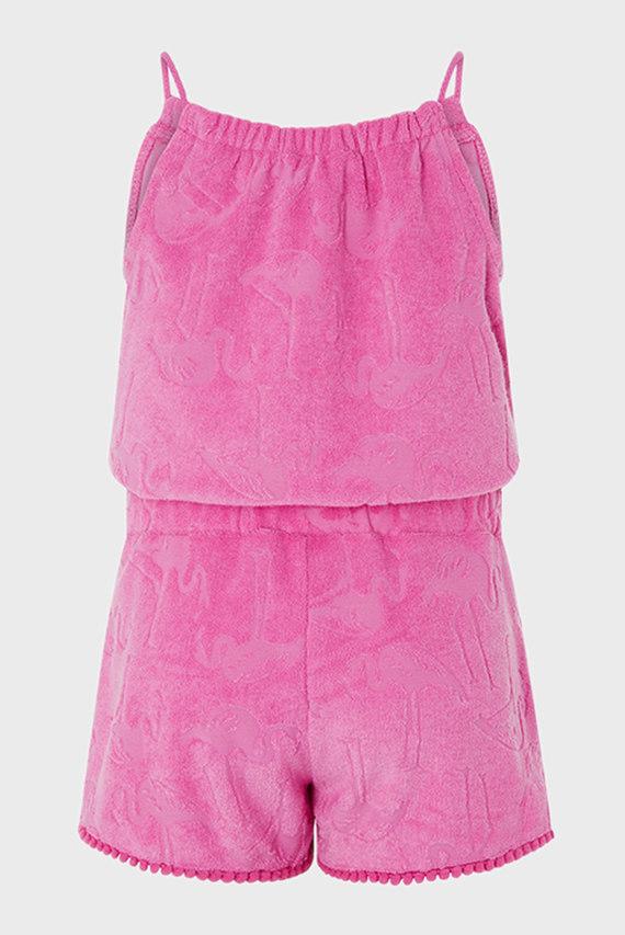 Детский розовый комбинезон Flamingo Towelling P