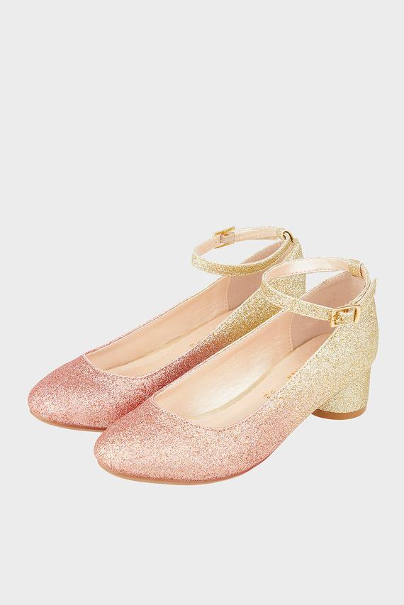 Десткие розовые туфли LIZZY OMBRE HEEL