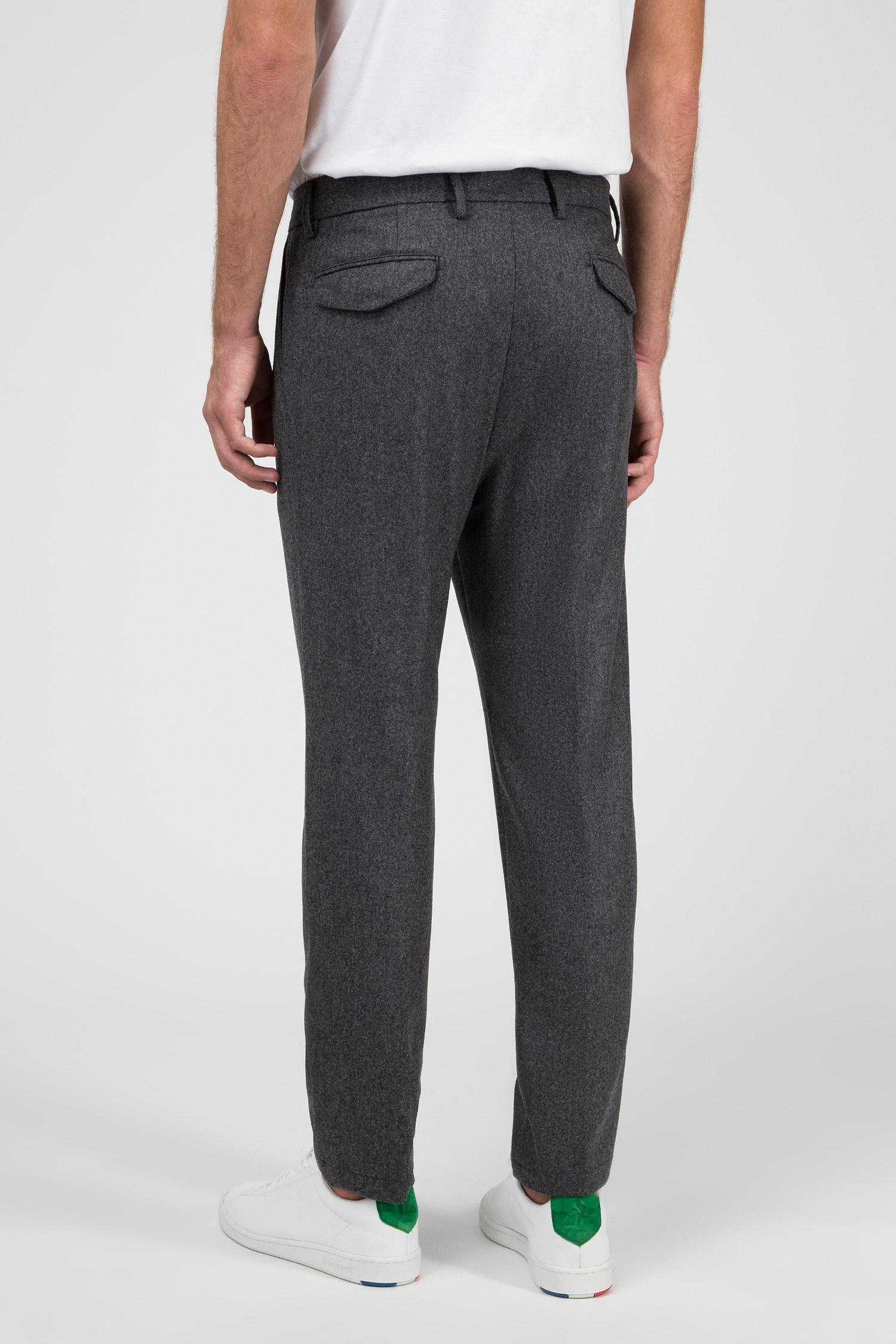 Мужские серые шерстяные брюки Barba Napoli