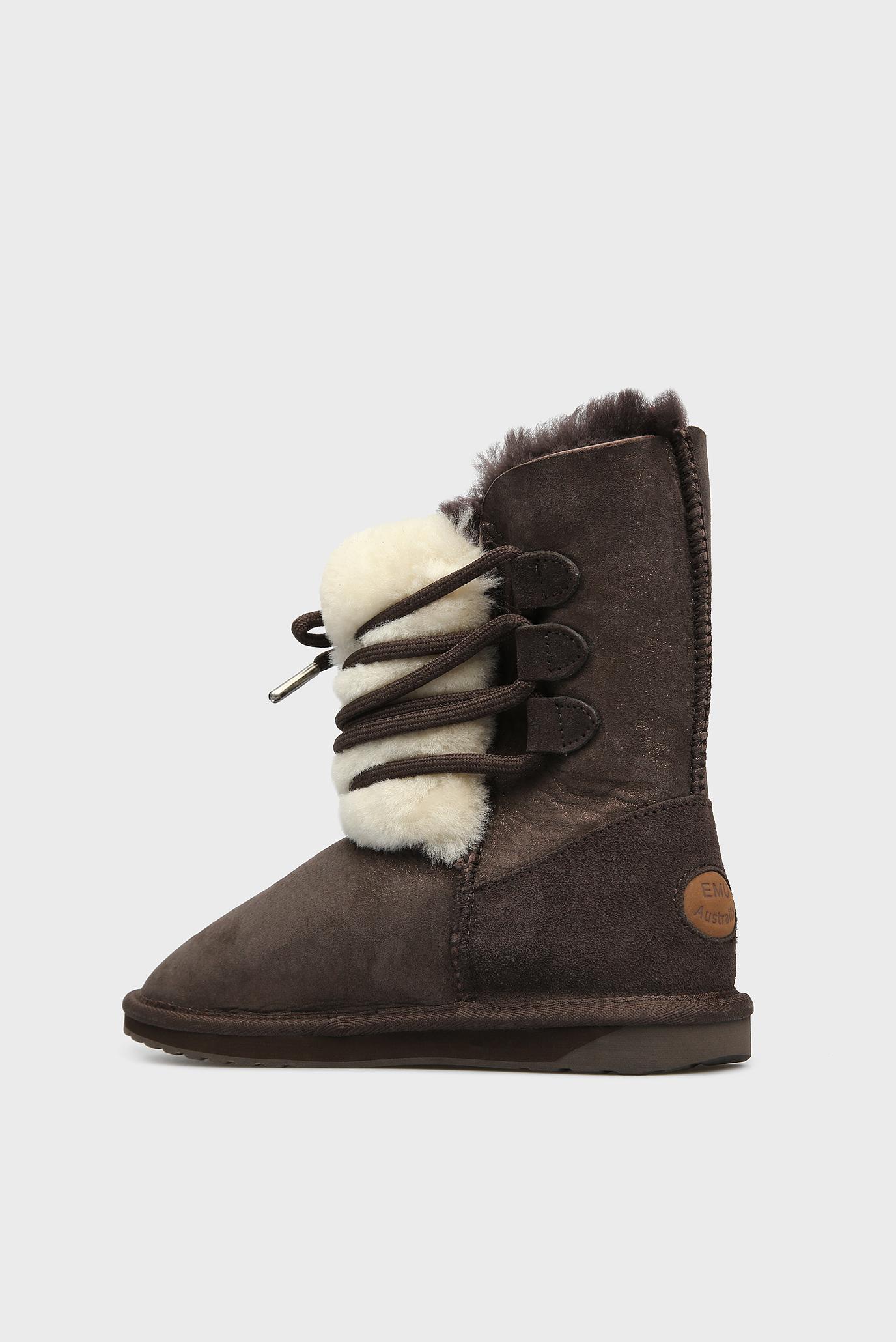 Купить Женские коричневые замшевые угги Sorby EMU Australia  EMU Australia  W11789 – Киев, Украина. Цены в интернет магазине MD Fashion