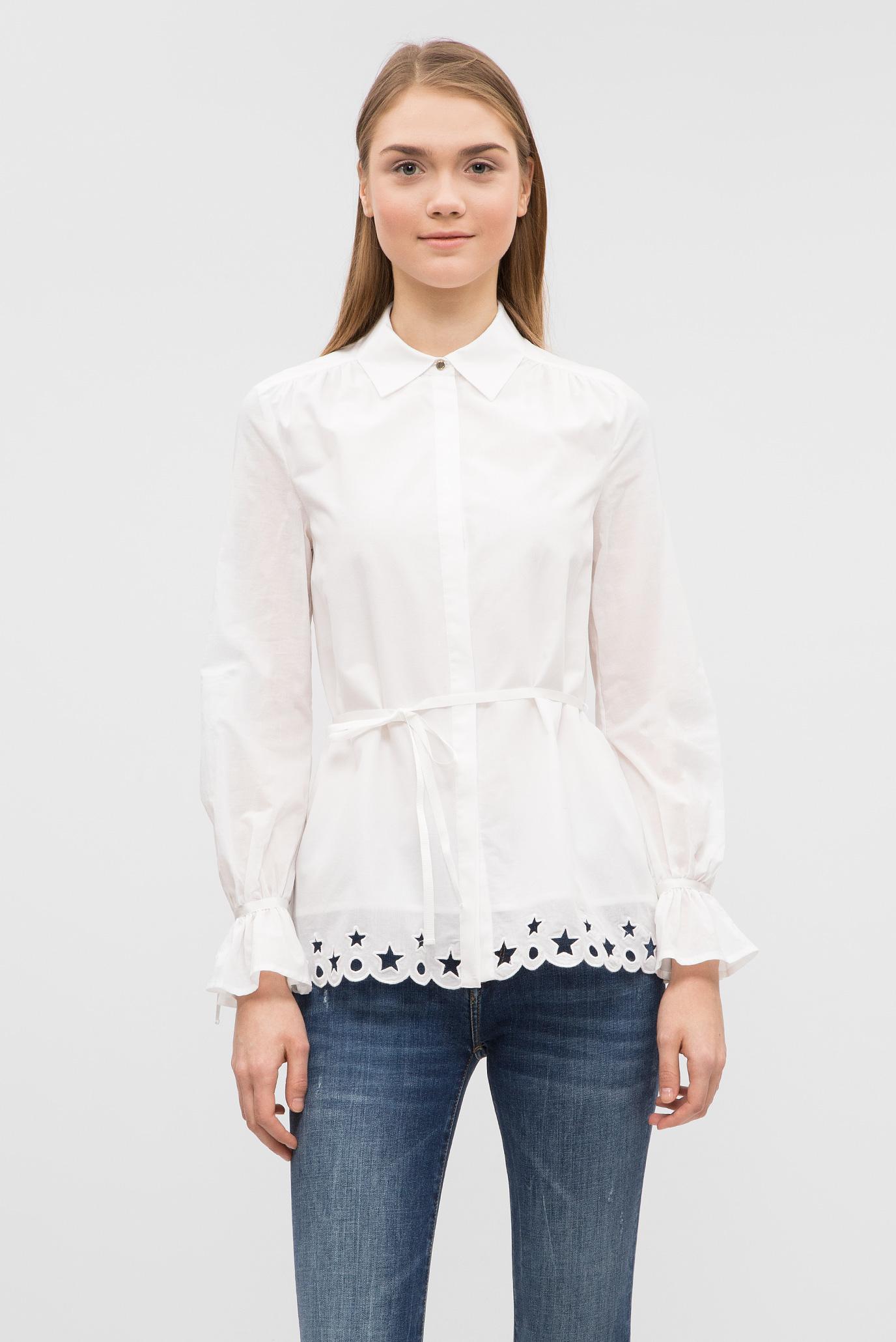 Купить Женская белая блуза  Tommy Hilfiger Tommy Hilfiger WW0WW21504 – Киев, Украина. Цены в интернет магазине MD Fashion