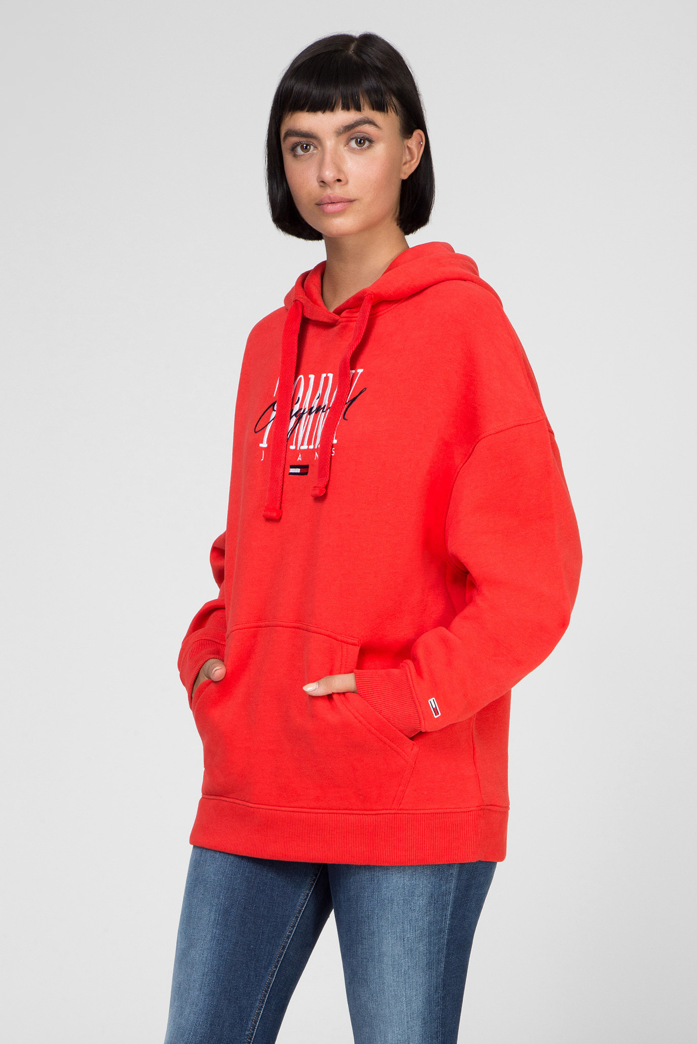 Женское красное худи TJW MODERN LOGO Tommy Hilfiger