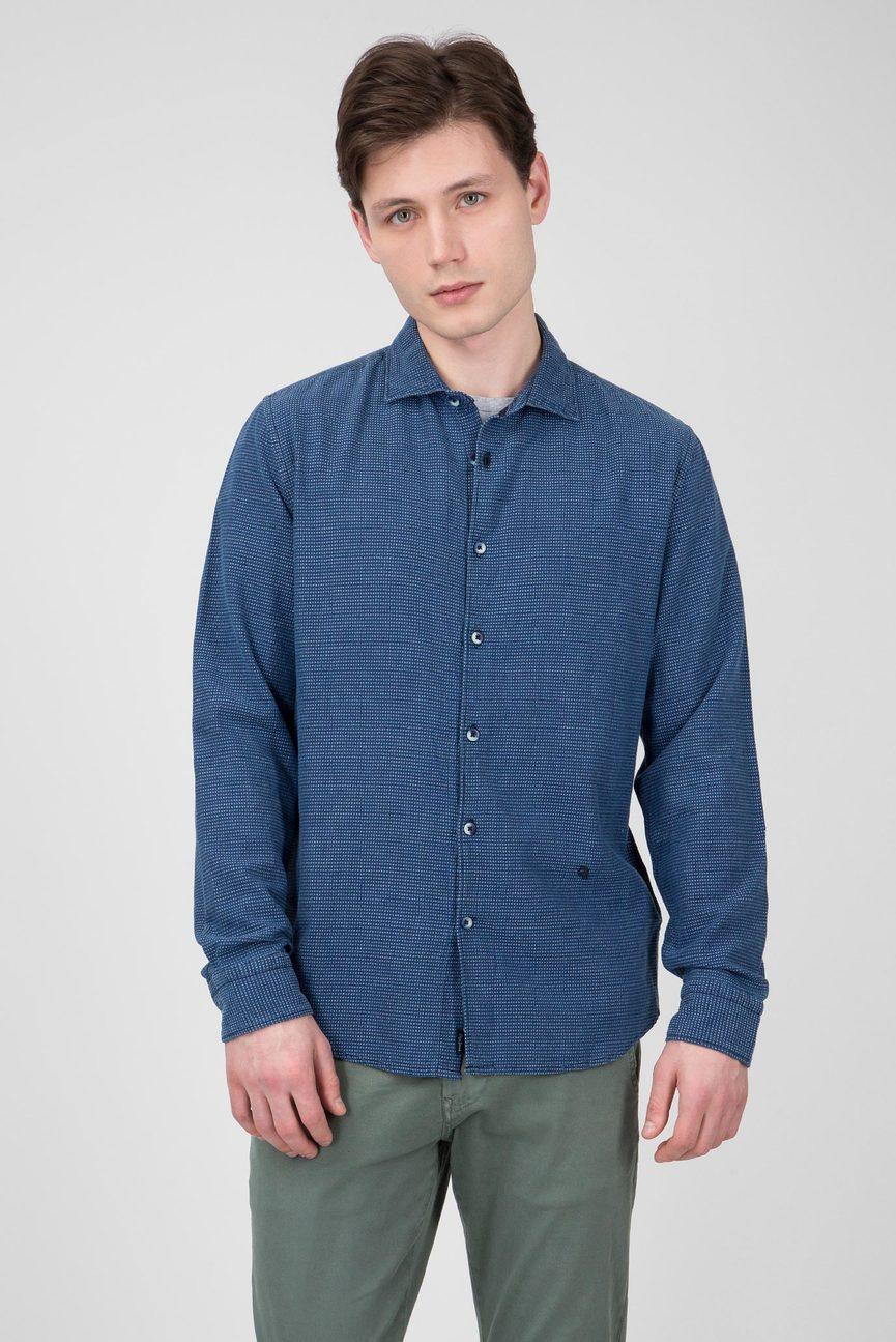 Мужская синяя рубашка