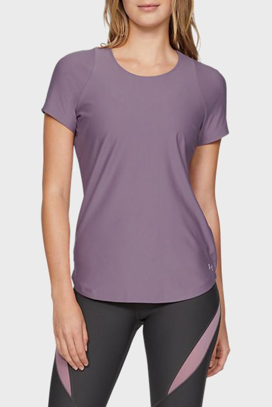 Женская фиолетовая футболка UA Vanish SS