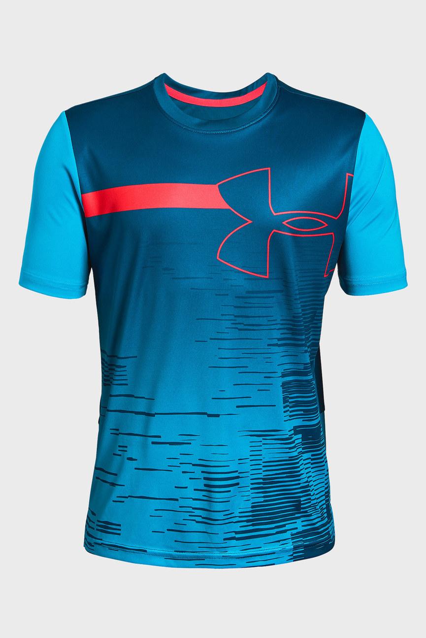 Детская синяя футболка UA Sun Armour Tee