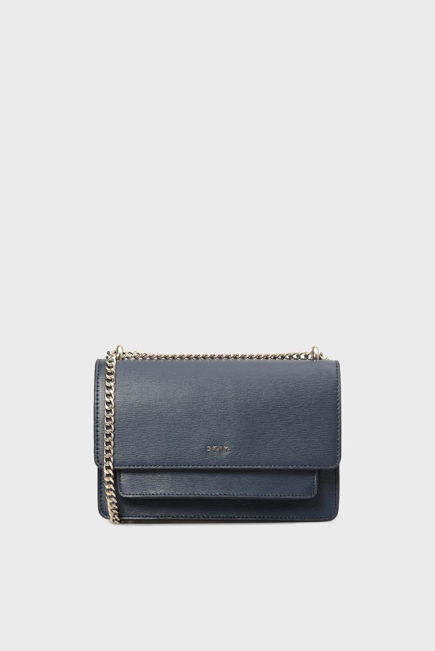 Женская темно-синяя кожаная сумка через плечо BRYANT-SM