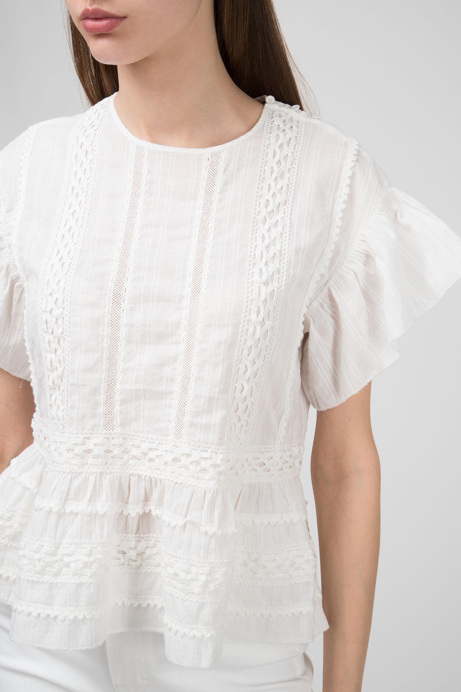 Купить Женская белая блуза ROSALIE Closed Closed C94161-24G-200 – Киев, Украина. Цены в интернет магазине MD Fashion